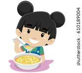 vector illustration of little... | Shutterstock .eps vector #610189004