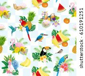 birds pattern | Shutterstock .eps vector #610191251