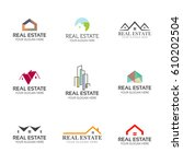 set of real estate logo... | Shutterstock .eps vector #610202504