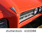 front of 1969 orange pontiac gto | Shutterstock . vector #6102088