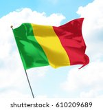 flag of mali raised up in the... | Shutterstock . vector #610209689