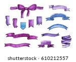 Watercolor Graphic Ribbon Set