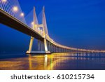 the vasco de gama bridge  ... | Shutterstock . vector #610215734