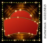 abstract shining retro light... | Shutterstock .eps vector #610215815