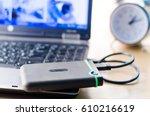 external memory  notebook | Shutterstock . vector #610216619