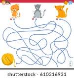 cartoon illustration of paths... | Shutterstock .eps vector #610216931