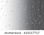 image of raindrops on gray...