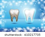 set of 3d realistic dirty and... | Shutterstock .eps vector #610217735