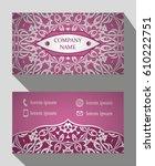 business card  vintage card set ... | Shutterstock .eps vector #610222751