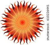 sunbeams | Shutterstock . vector #610226441