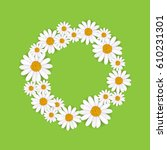 spring round frame with... | Shutterstock .eps vector #610231301