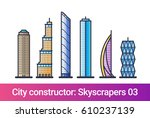 abstract city constructor in... | Shutterstock .eps vector #610237139