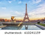 Eiffel Tower At Sunset In Pari...