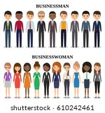 characters businessman and... | Shutterstock .eps vector #610242461