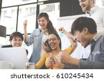 group of people various... | Shutterstock . vector #610245434