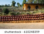the row of traditional chinese... | Shutterstock . vector #610248359