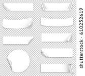 paper label with gradient mesh  ...   Shutterstock .eps vector #610252619