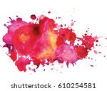 watercolor stains.  colorful... | Shutterstock .eps vector #610254581