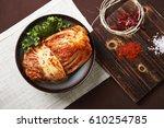 korean food kimchi | Shutterstock . vector #610254785