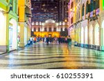 night view of leal senado... | Shutterstock . vector #610255391