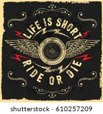 motorcycle label t shirt design ... | Shutterstock .eps vector #610257209