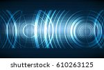 vector technological ecco... | Shutterstock .eps vector #610263125