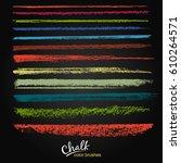 a set of vector brush strokes...   Shutterstock .eps vector #610264571