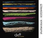 a set of vector brushstrokes.... | Shutterstock .eps vector #610264625