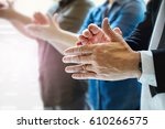 business team success. business ... | Shutterstock . vector #610266575