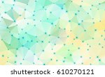 abstract geometric crystal... | Shutterstock .eps vector #610270121