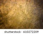 gold texture metal surface...   Shutterstock . vector #610272209