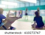 abstract blur facebook live at...   Shutterstock . vector #610272767