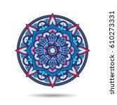 mandala element. symmetric... | Shutterstock .eps vector #610273331