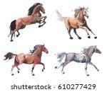 watercolor painting of... | Shutterstock . vector #610277429