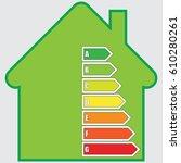 energy efficiency graph   Shutterstock .eps vector #610280261