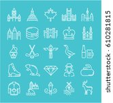 set line icons in flat design... | Shutterstock . vector #610281815