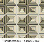 seamless background navy spiral ... | Shutterstock .eps vector #610282469