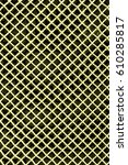 yellow metal mesh or aluminum... | Shutterstock . vector #610285817