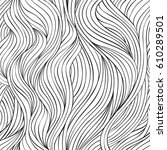 hand drawn seamless pattern.... | Shutterstock .eps vector #610289501