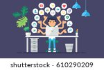 web social network concept for... | Shutterstock .eps vector #610290209
