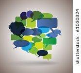 big speech bubble made from...   Shutterstock .eps vector #61030324