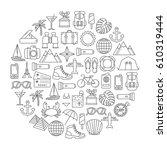 round design element with... | Shutterstock .eps vector #610319444