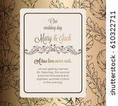 antique baroque luxury wedding... | Shutterstock .eps vector #610322711