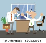 the director scolds the... | Shutterstock .eps vector #610323995