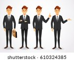 elegant people businessman... | Shutterstock .eps vector #610324385