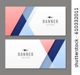 set of banner templates. bright ... | Shutterstock .eps vector #610332011