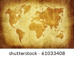 world map with latitude and... | Shutterstock . vector #61033408