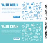 vector template for value chain ... | Shutterstock .eps vector #610336205