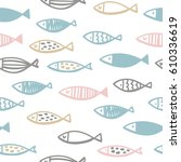 pattern with fish | Shutterstock .eps vector #610336619