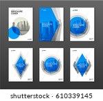 brochure cover design layouts... | Shutterstock .eps vector #610339145